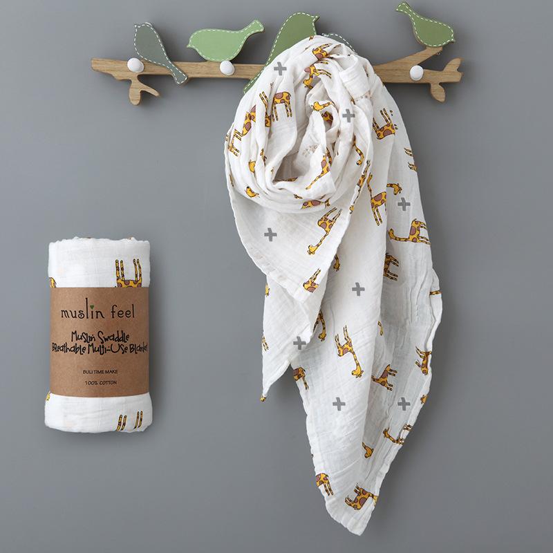 Khăn Tắm Em Bé, Khăn Tắm Loại Tốt 100% Cotton Mềm Mịn Thấm Hút Tốt Họa Tiết Hưu Cao Cổ