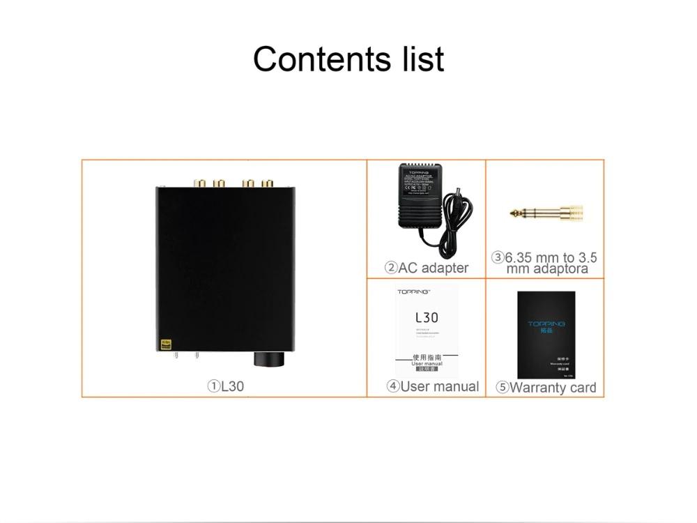 Bộ Khuếch Đại Âm Thanh Nghe Nhạc Lossless AMP NFCA HiFi 6.35MM TOPPING L30 - Hàng Chính Hãng
