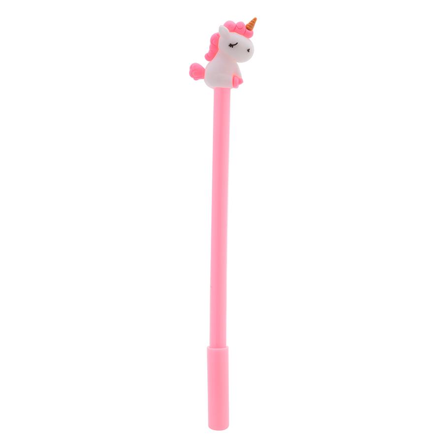 Combo 4 Cây Bút Bi Nước - Mực Đen - Hình Unicorn