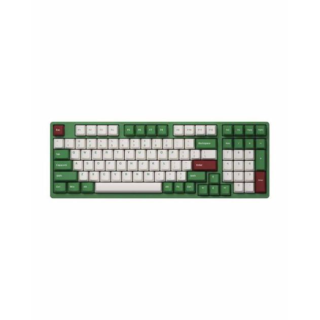 Bàn Phím Cơ AKKO 3098 DS Matcha Red Bean (Akko Switch V2) - Hàng Chính Hãng