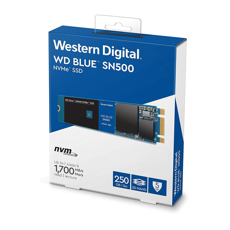 Ổ Cứng SSD WD Blue SN500 250GB NVMe Gen3 PCIe M.2 2280 3D NAND - WDS250G1B0C -  Hàng Chính Hãng