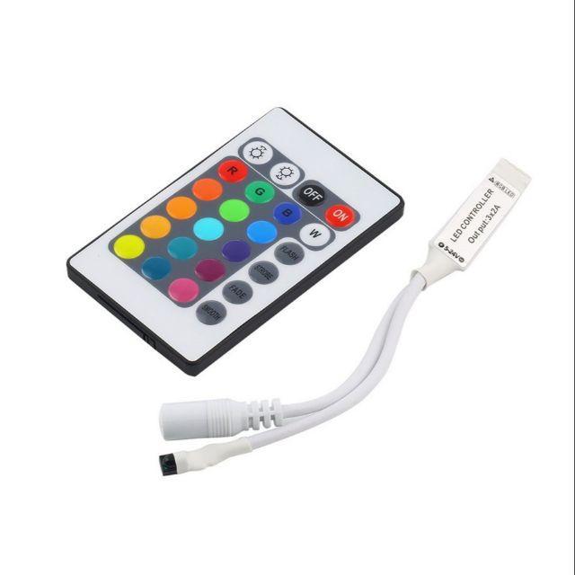điều khiển hồng ngoại không dây cho dải đèn LED 3528 5050 RGB