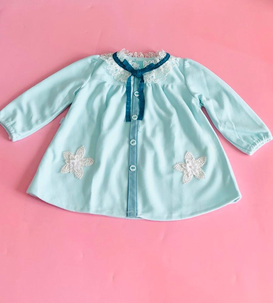 Áo khoác dạ bé gái Xanh ngọc - AICDBGMEDZMU - AIN Closet