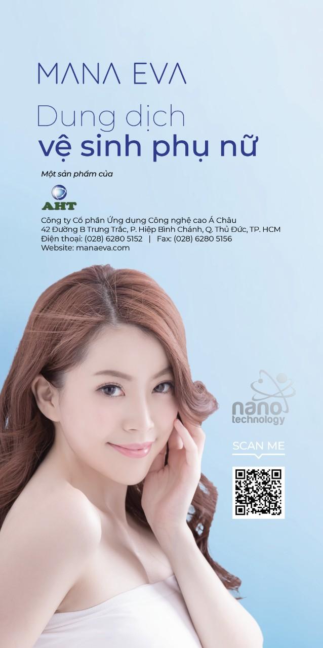 Dung Dịch Vệ Sinh Phụ Nữ Nano Bạc Mana Eva 60 ml (dạng gel)