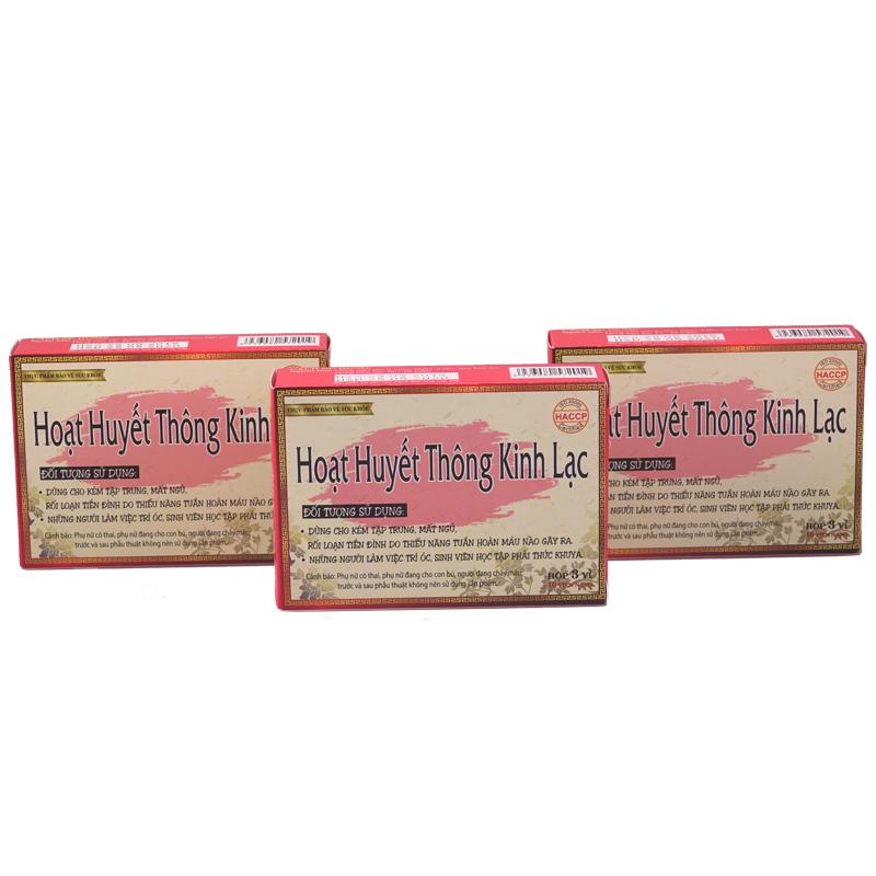 Thực phẩm chức năng: Combo 3 Hộp Viên Uống Hoạt Huyết Thông Kinh Lạc - Tăng Cường Tuần Hoàn Mạch Máu
