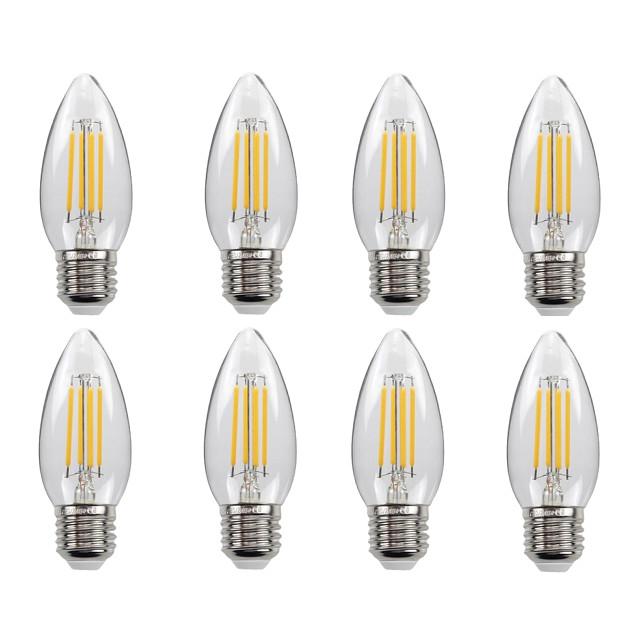 Bộ 8 bóng đèn Led Edison C35 4W hình quả nhót đui E27