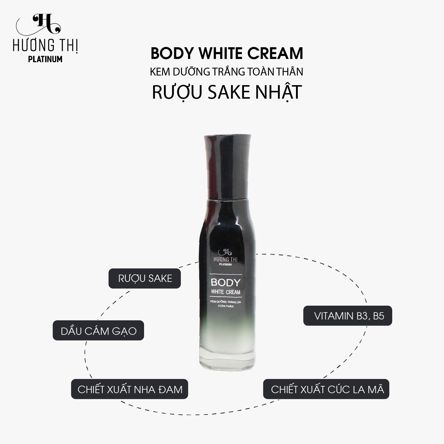 Kem Dưỡng Trắng Da Toàn Thân Hương Thị Sake Nhật - Body White Cream 120ml