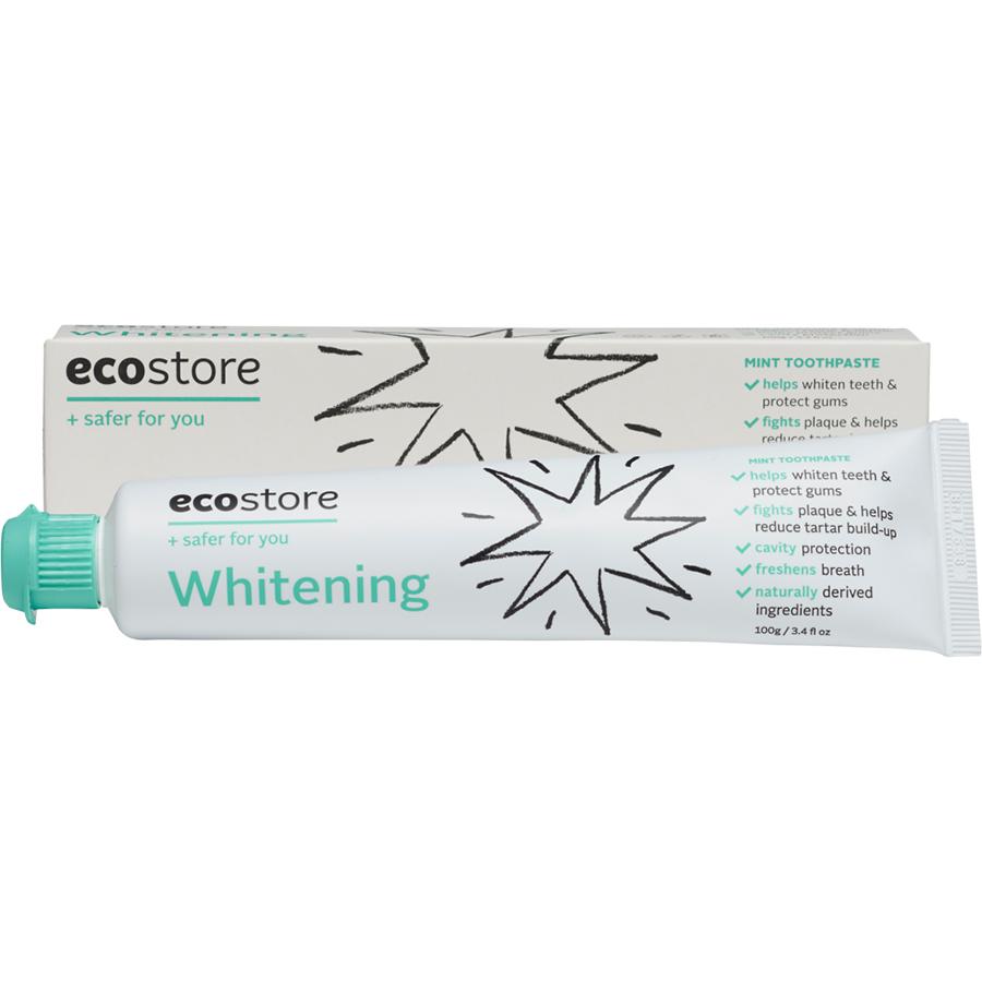 Kem đánh răng làm trắng gốc thực vật Ecostore 100g