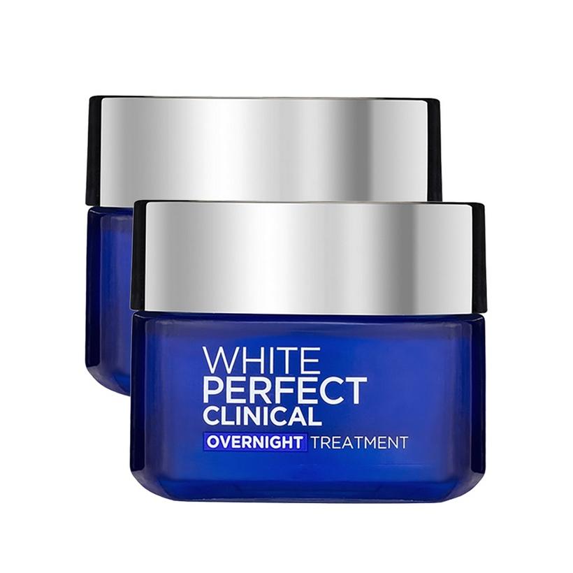 Combo kem dưỡng da trắng mịn và giảm thâm nám L'Oreal Paris White Perfect Clinical ngày và đêm (50mlx2)