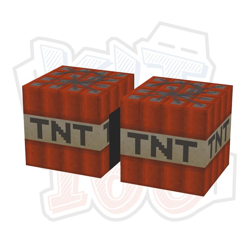 Mô hình giấy Minecraft TNT block