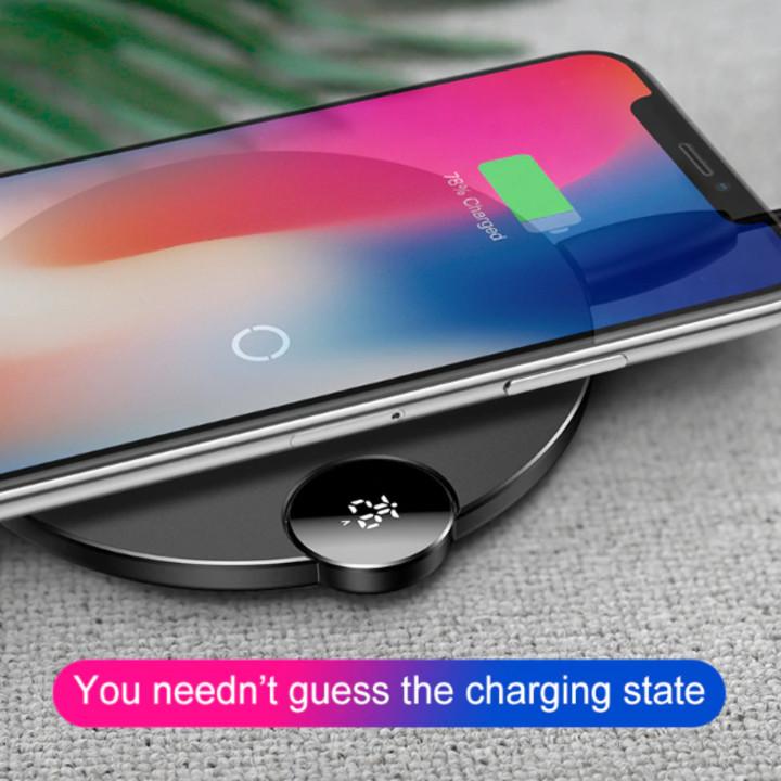 Đế sạc nhanh không dây Baseus WXSX-01 cho Apple iPhone 8/ iPhone X/ XS Max/ Samsung S8/ S9/ Note 9 ( 7.5W/ 10W, Qi Wireless Quick Charger ) - Hàng nhập khẩu