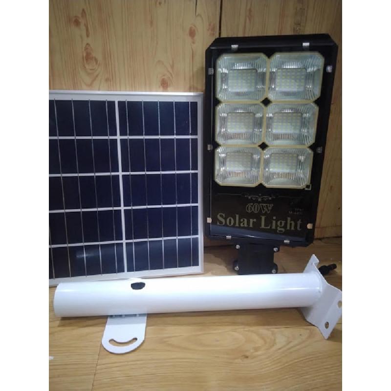 Led năng lượng mặt trời ngoài trời IP65 60W có remote