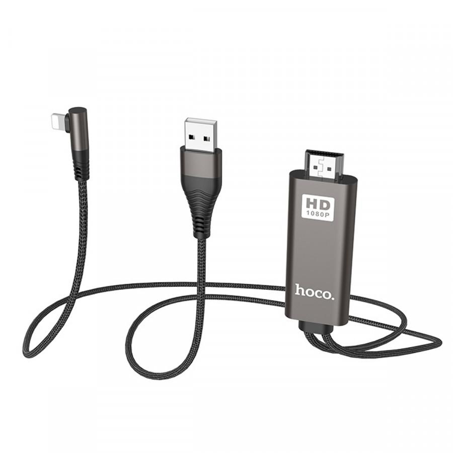 Cáp Hdmi Iphone/Ipad Lightning Hoco UA14 I Chính Hãng