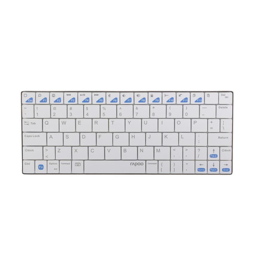 Bàn phím vi tính không dây Rapoo E6300 màu trắng Hàng chính hãng