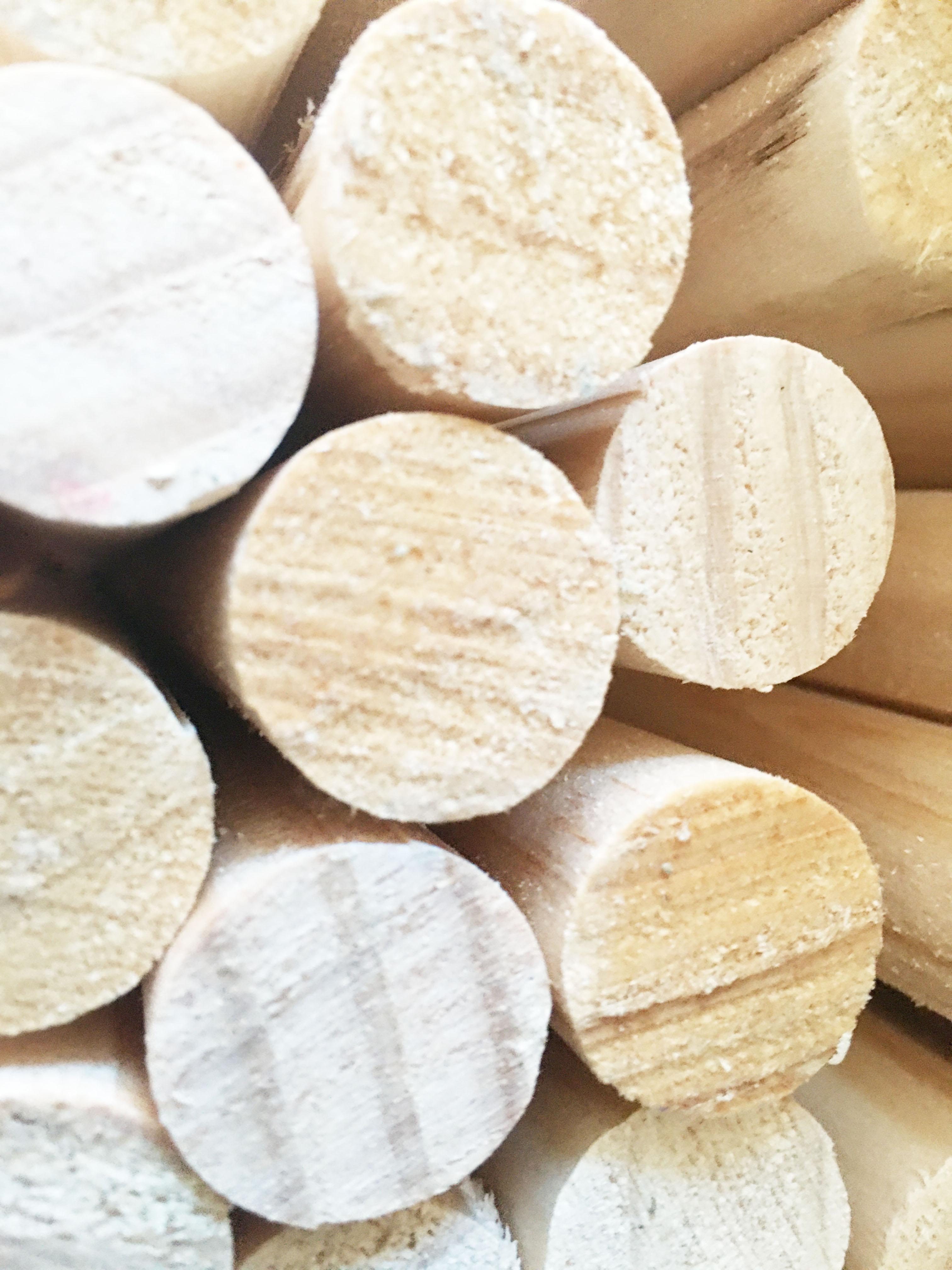 Combo 5 thanh gỗ tròn từ gỗ thông phi 1cm x Dài 50cm phụ kiện macrame, handmade, decor
