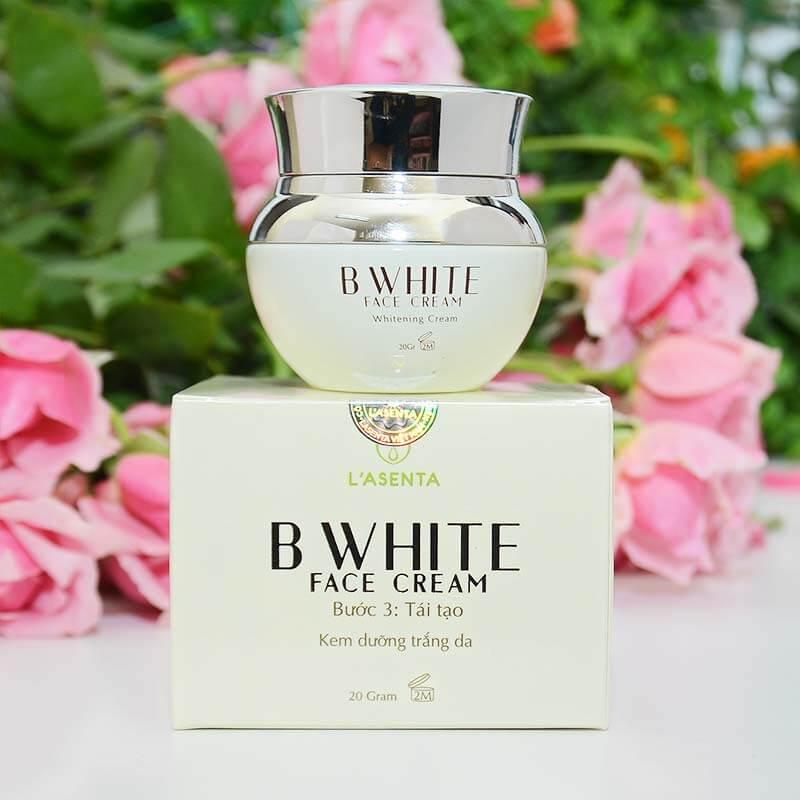 Kem Dưỡng Trắng Da Mặt Cao Cấp Lasenta B White Face Cream 20g - Hàng Chính Hãng