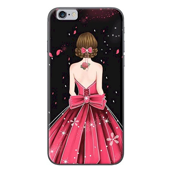 Ốp Lưng Dành Cho iPhone 6  6S - Mẫu Cô Gái Váy Hồng