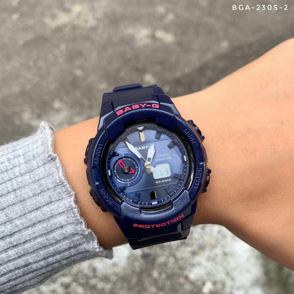 Đồng Hồ Nữ Casio Baby G BGA-230S-2ADR Dây Nhựa Màu Xanh