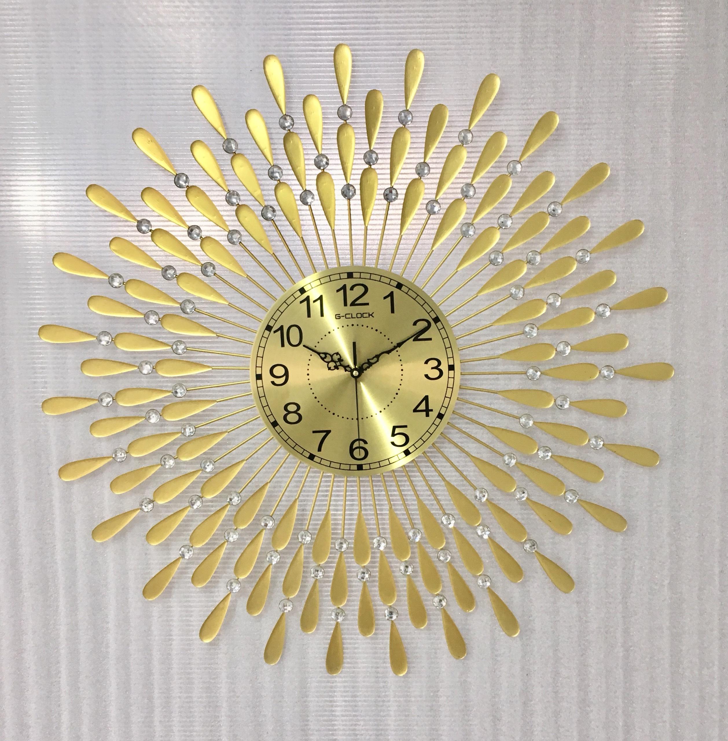 Đồng hồ treo tường hiện đại hình giọt nước hàng Việt Nam chất lượng cao trang trí phòng khách kích thước 75x75cm