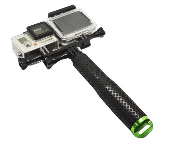 Mount đôi gắn 2 thiết bị dùng cho GoPro  Sjcam, Xiaomi với đèn led