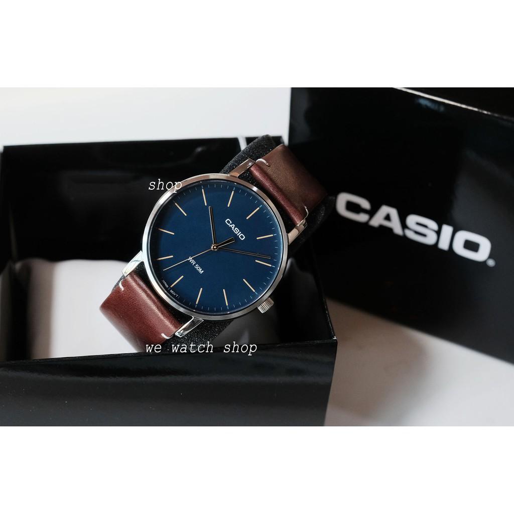 Đồng hồ nam dây da Casio MTP-E171L-2EVDF