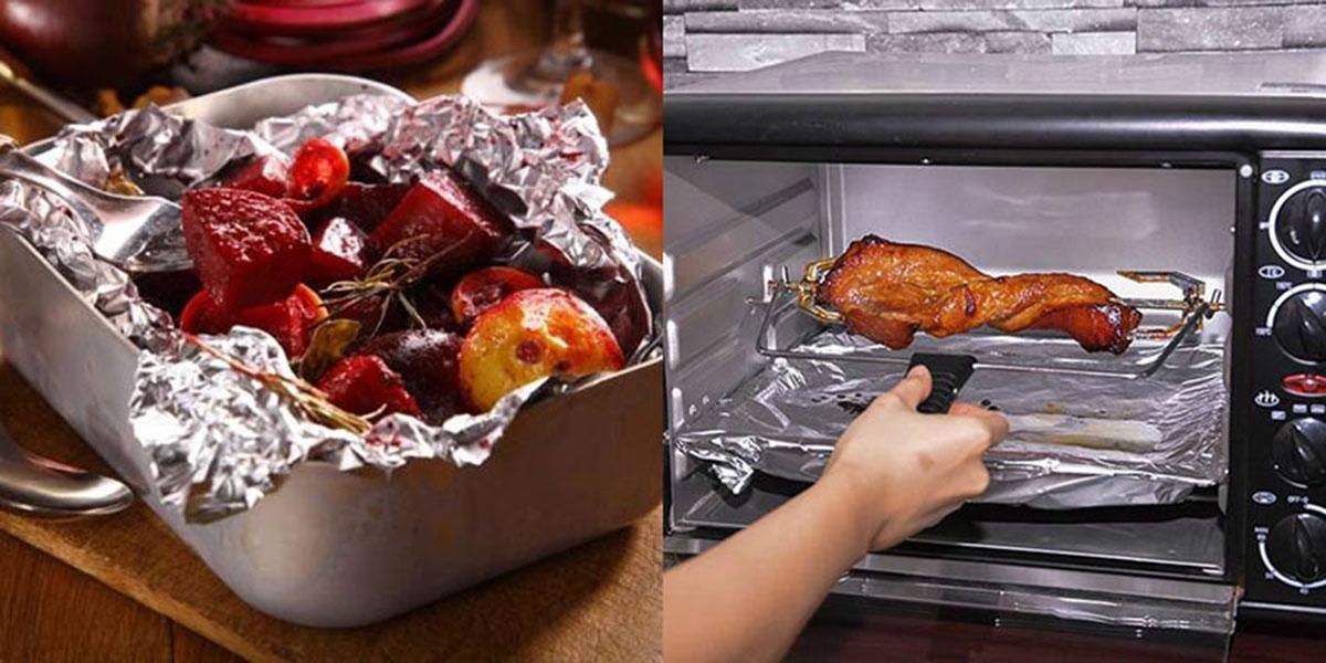 Giấy bạc bọc thực phẩm Seven Cooking Foil cao cấp Hàn Quốc (Asobu :25cm x 4m)