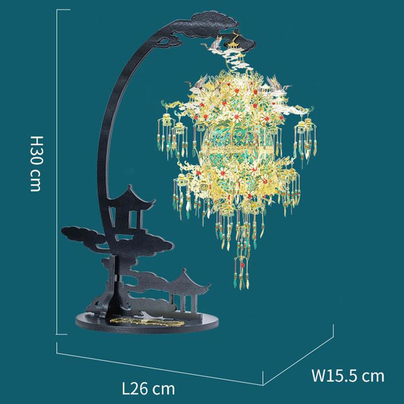 Mô hình thép 3D tự ráp mẫu đèn lồng hoàng gia