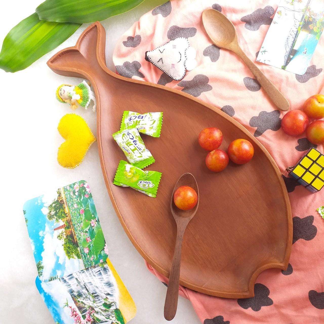 Khay gỗ NHÃN hình Cá-KG03