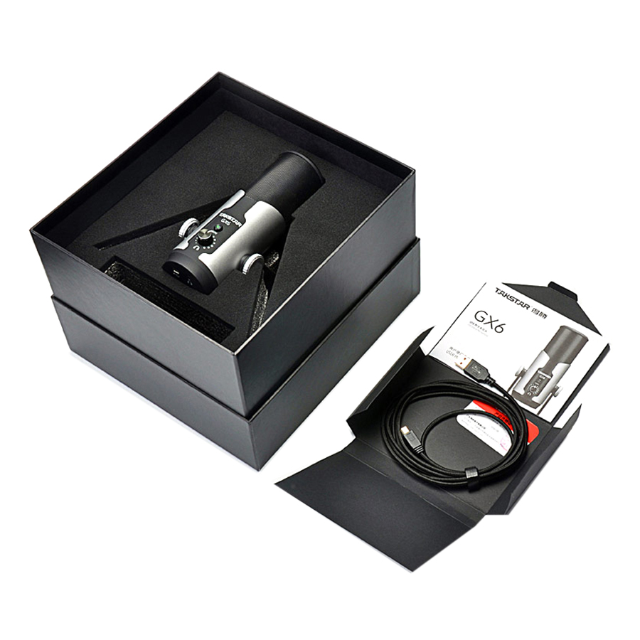 Micro Thu Âm Cho Streamer Takstar GX6 USB  - Hàng Chính Hãng