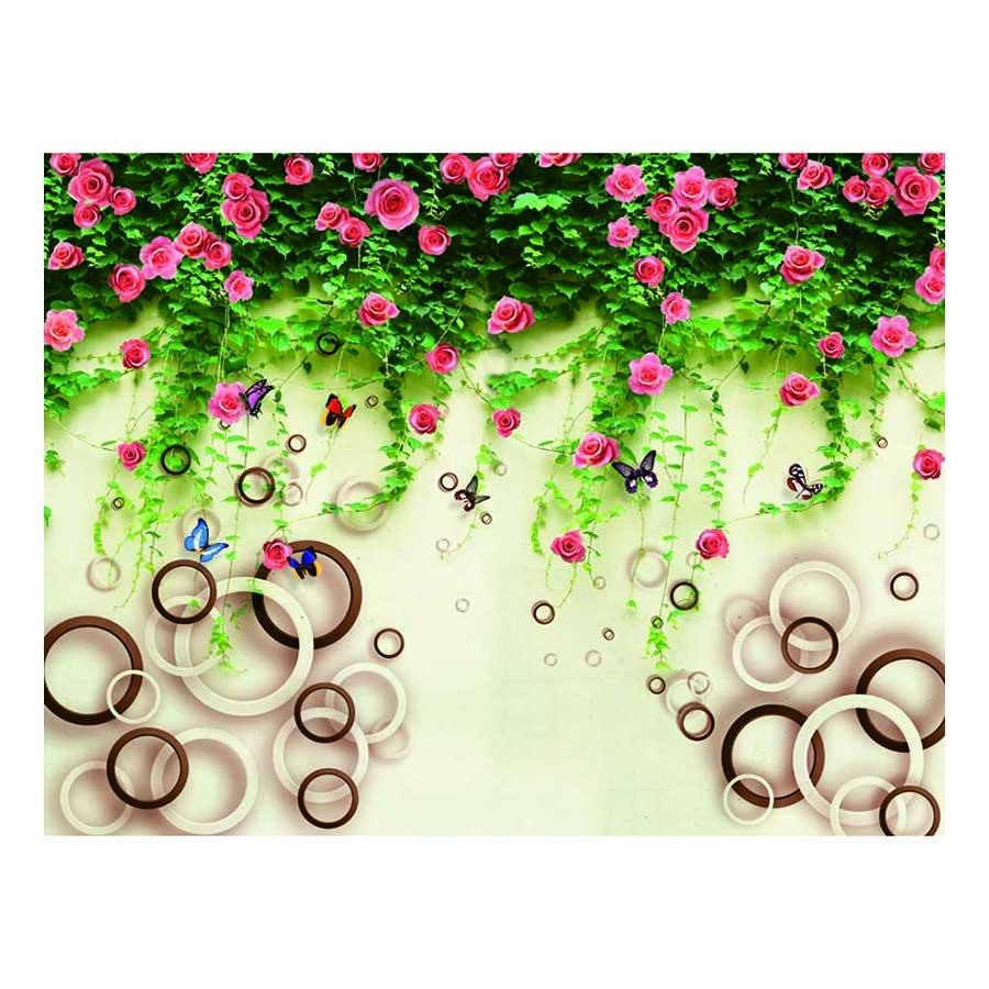 Tranh dán tường hoa 3D TH46