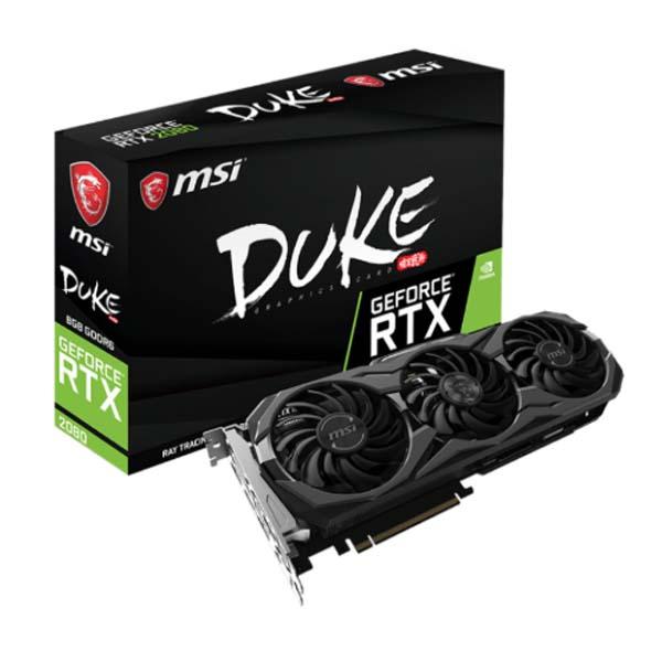 Card màn hình MSI RTX 2080 Duke 8G Oc-Hàng chính hãng
