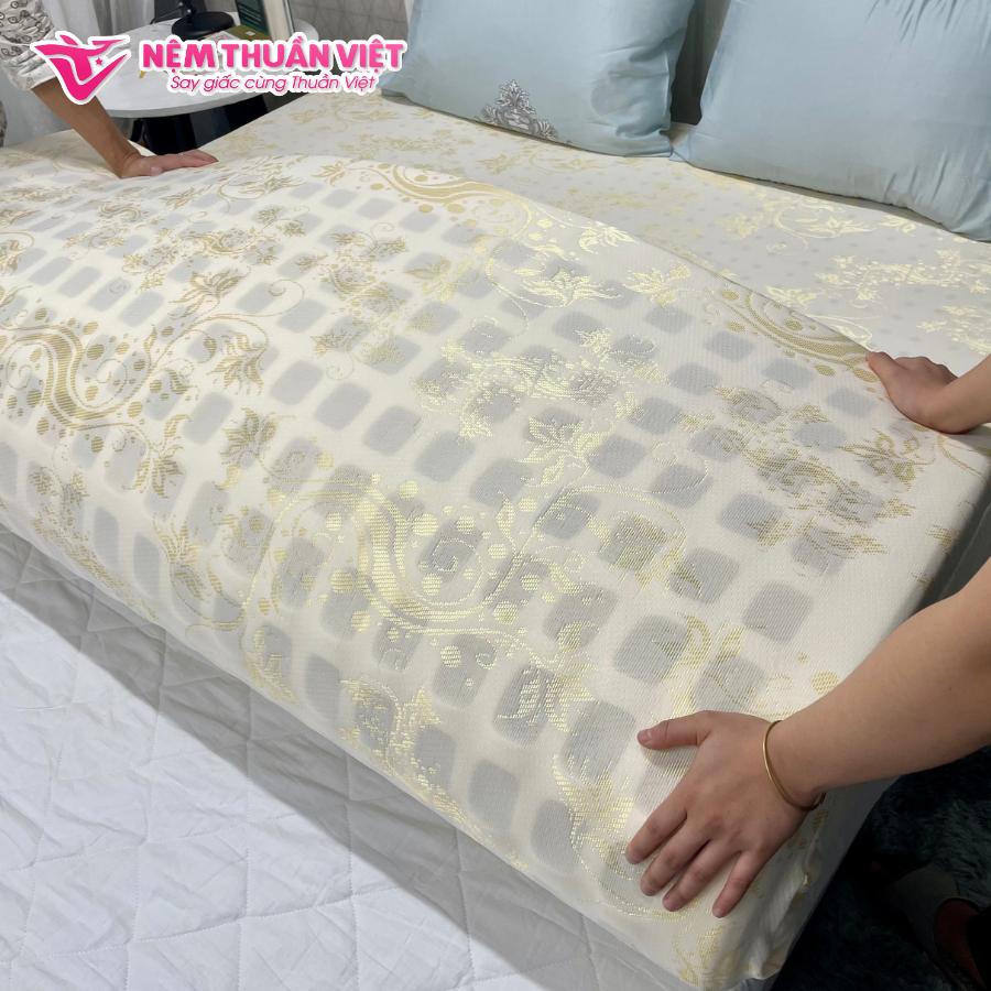 (1m2x2mx15cm) Nệm Cao Su Thuần Việt Premium - Công Nghệ Hoa Kỳ