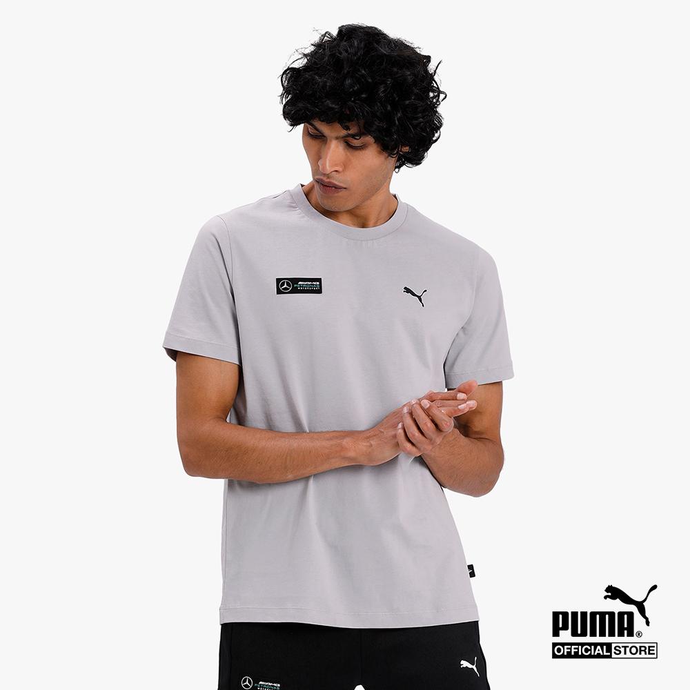 PUMA - Áo thun thể thao nam cổ tròn tay ngắn Mercedes Graphic 596184-04