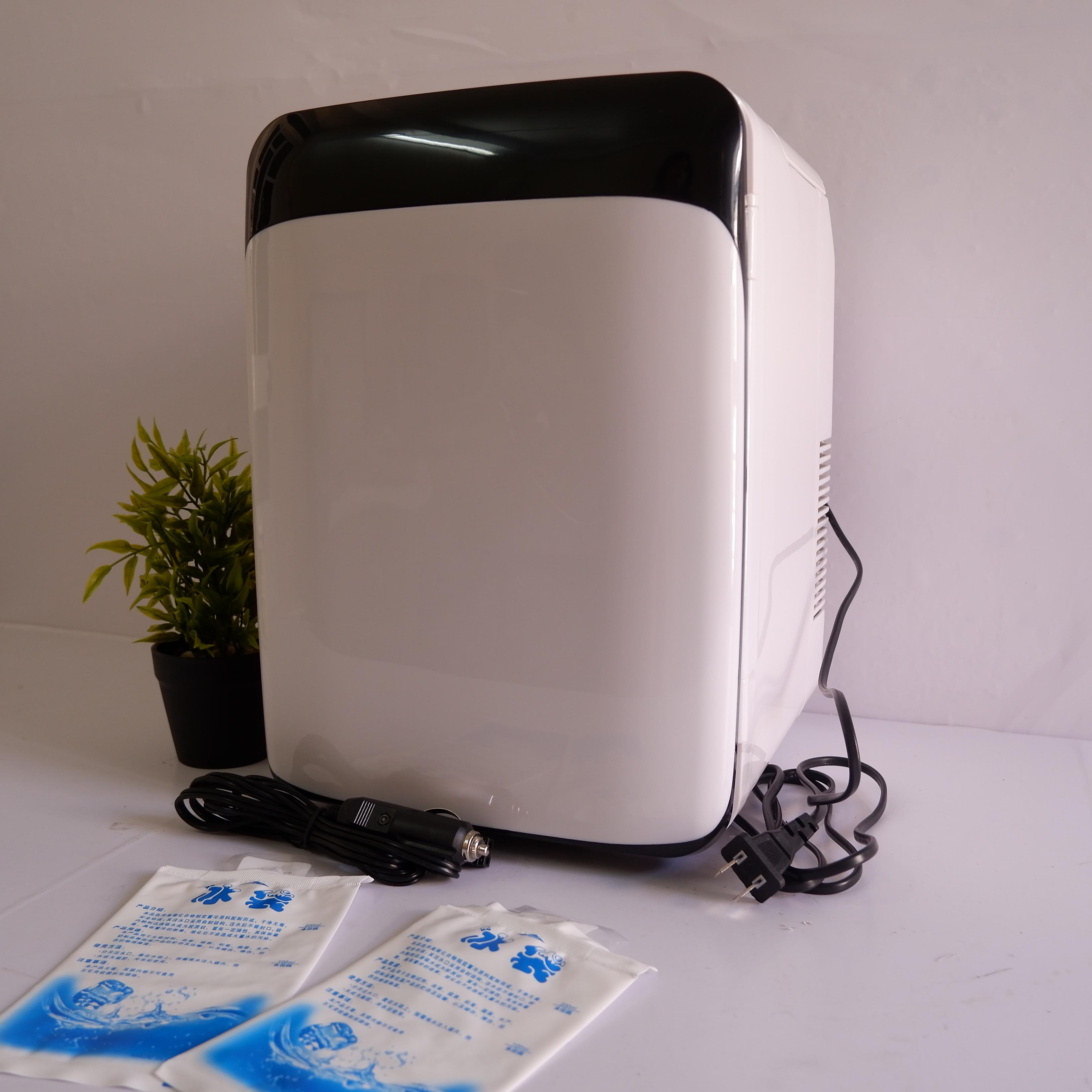 Tủ lạnh mini 2 chiều nóng lạnh dùng cho ô tô và gia đình 10L + Tặng kèm găng tay vệ sinh tủ lạnh