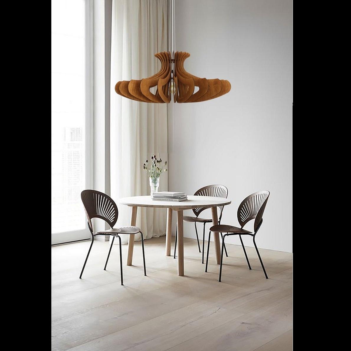 Đèn gỗ thả trần CAO CẤP hiện đại sang trọng 24x53.5cm chất liệu gỗ trang trí cho phòng khách nhà căn hộ decor nhà quán cafe