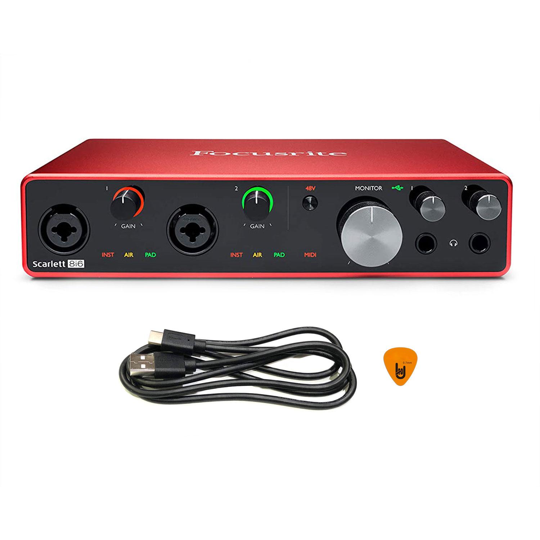 Focusrite Scarlett 8i6 Gen 3 Sound Card Âm Thanh Hàng Chính Hãng - Focus USB Audio Interface SoundCard (3rd - Gen3) - Kèm Móng Gẩy DreamMaker