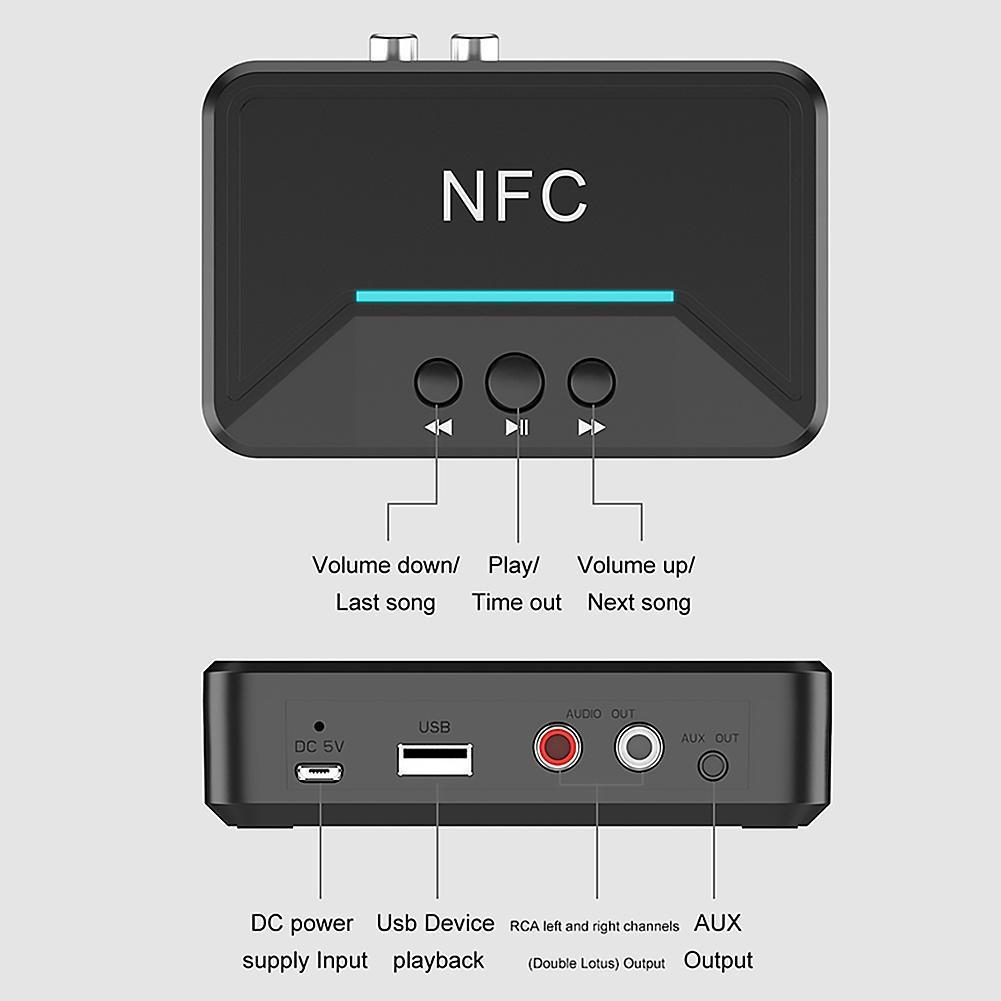 Thiết Bị Nhận Bluetooth, NFC Cho Loa Và Amply BT200 Cao Cấp AZONE