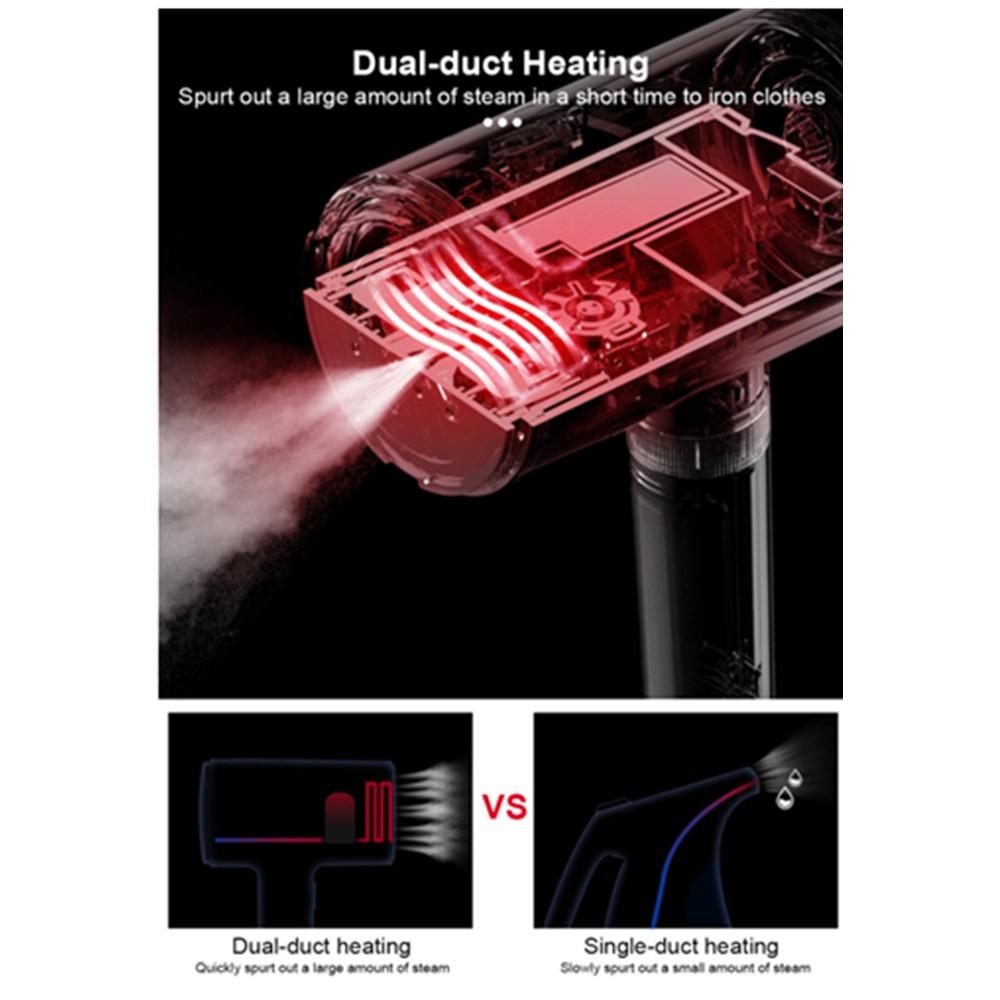 Máy ủi hơi nước cầm tay 2 in 1 Deerma DEM-HS218 Hàng Nhập Khẩu