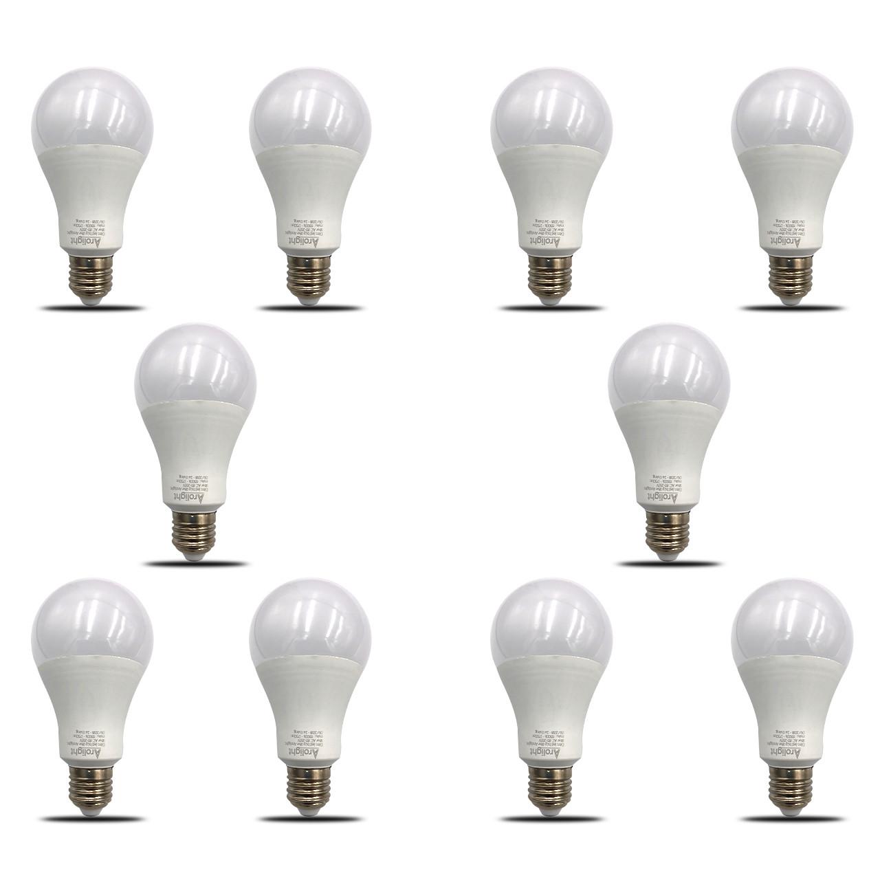 Bộ 10 bóng đèn LED Bulb kín nước 18W siêu sáng