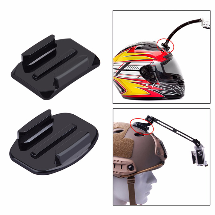Bộ 4 keo dán nón mũ bảo hiểm và 4 Mount cho Action cam