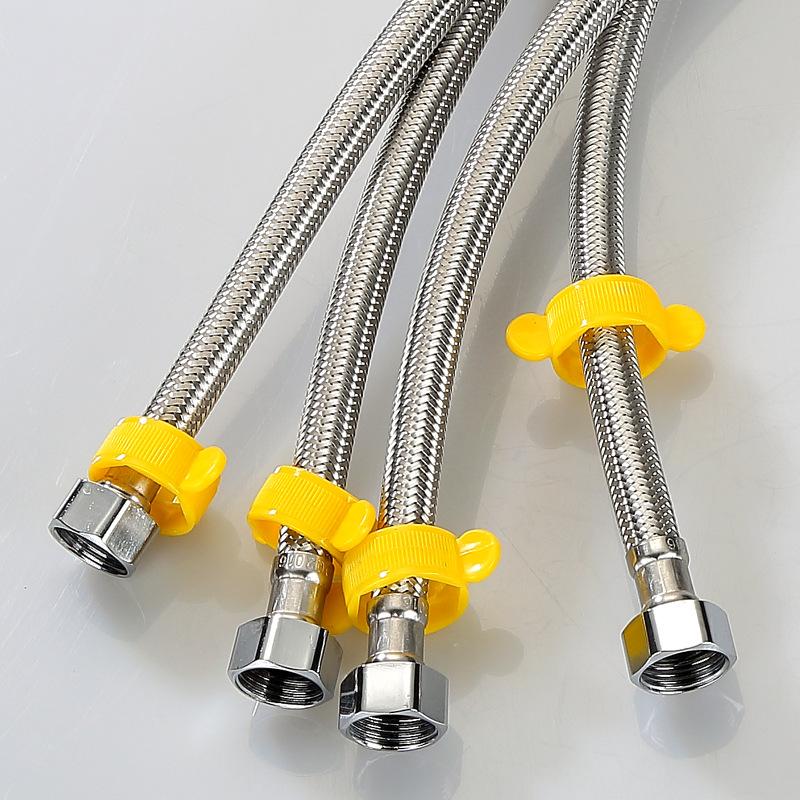 Bộ 2 dây cấp nước chậu rửa, bình nóng lạnh, lavabo, bồn cầu inox 304 cao cấp YE-6839