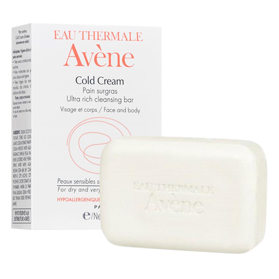 Thanh Kem Rửa Mặt Và Tắm Cho Da Khô Avène Cold Cream Ultra Rich Soapfree Cleansing Bar (100ml)
