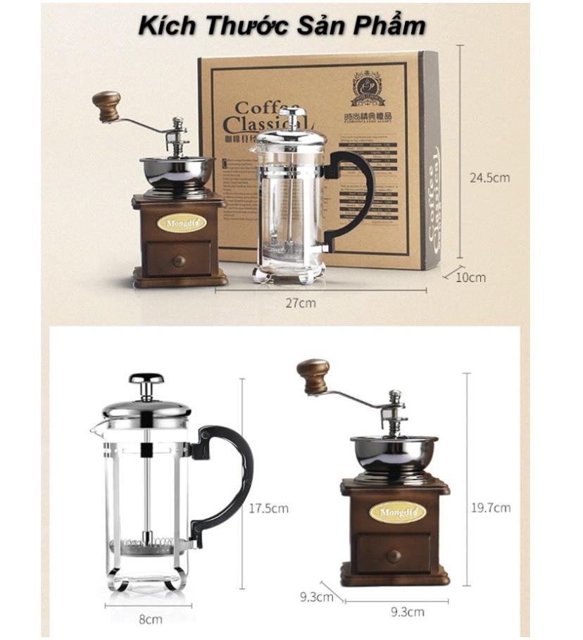 Trọn bộ bình ấm pha cà phê từ hạt 3-D7-L1-634