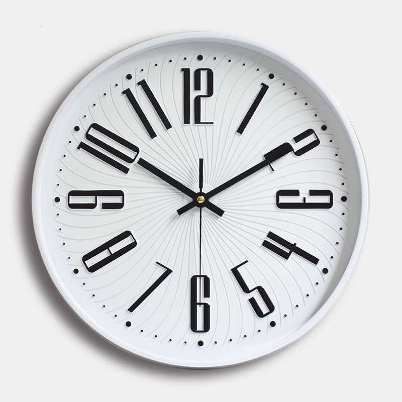 Đồng hồ treo tường tròn hoạ tiết đường sóng lượn 30cm