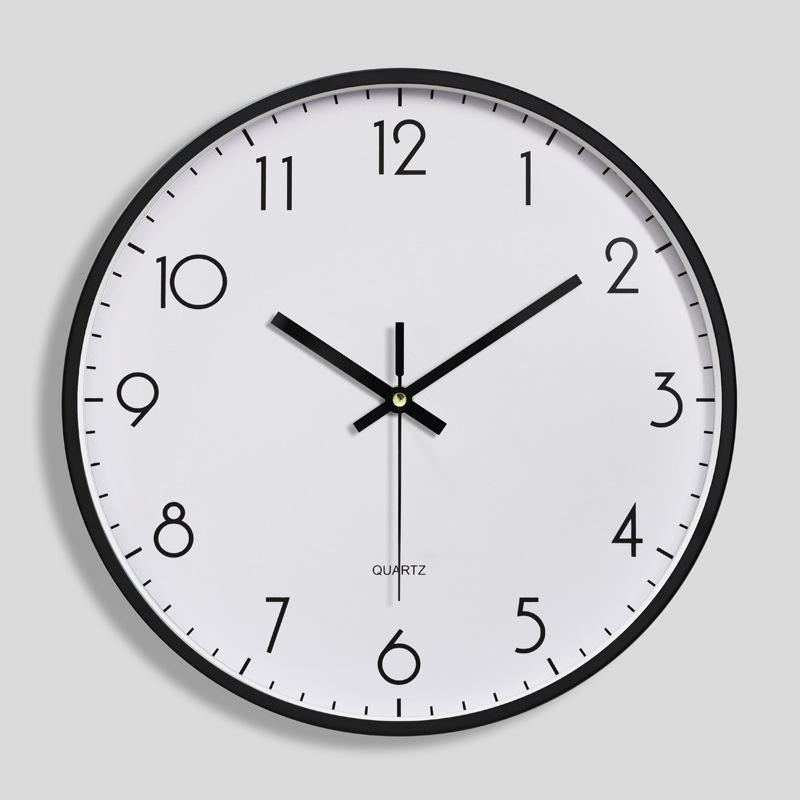 Đồng hồ treo tường tròn Quartz Basic số béo 30cm