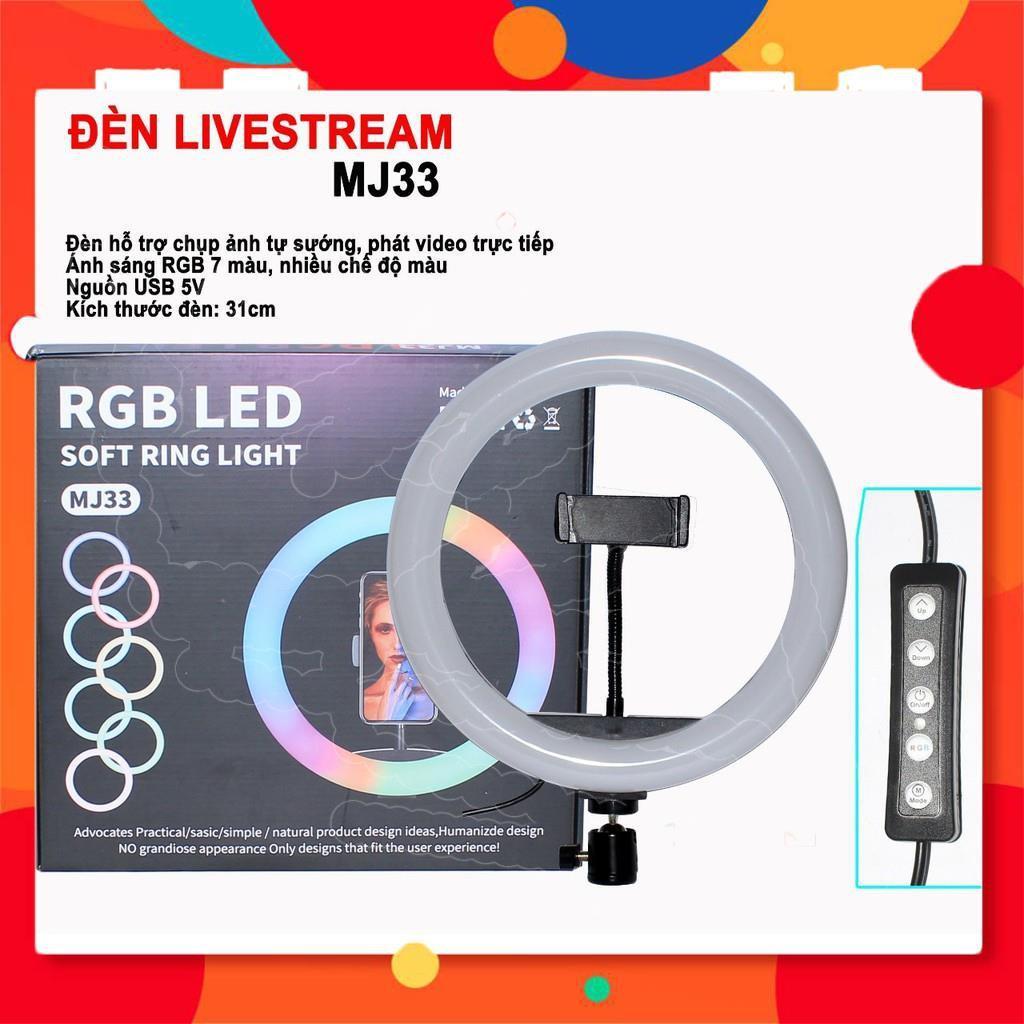 Đèn Livestream RGB LED Nhiều Màu Bán Hàng TIKTOK , Chụp Hình, Make Up Trang Điểm