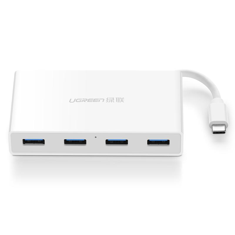 Hub USB type C ra 4 cổng USB 3.0 UGREEN 30278 - Hàng Chính Hãng