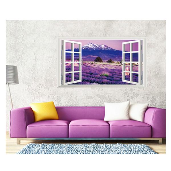 Decal Dán Tường Cửa Sổ Lavender Tím PK250 (60 x 90 cm)