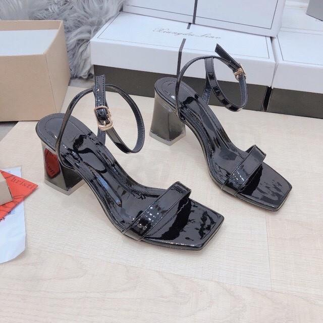 Giày sandals cao gót nữ  cao cấp 973  màu đen