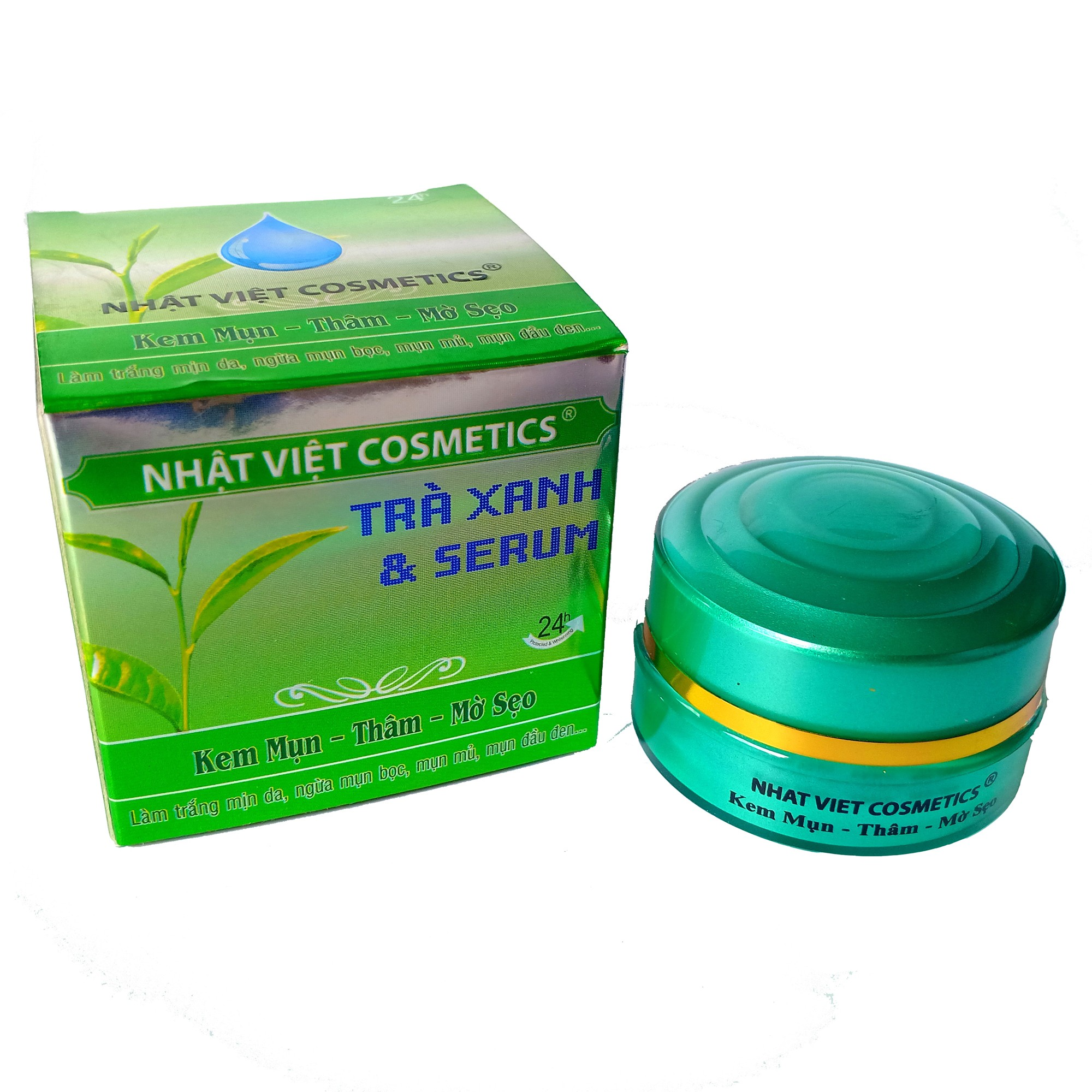 Kem mụn - Thâm - Mờ sẹo  10g  -  Nhật Việt Trà xanh